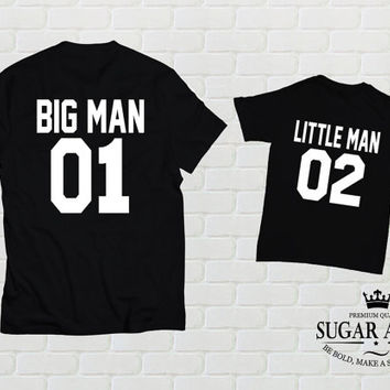 Big man little man father son matching shirts, Dad And Baby Matching Shirts, Daddy Son Matching Father Son Matching Shirts Father's Day Gift