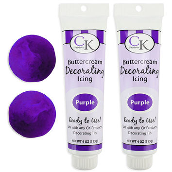 Purple Buttercream Decorating Icing Tube