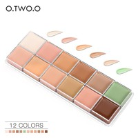 O.TWO.O 12 Colors Beauty Face Cream Makeup Concealer Palette Contour kit Concealer Cream Long Lasting Waterproof