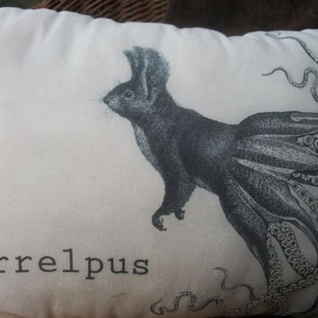 Squirrelpus Pillow by Bfiberandcraft on Etsy