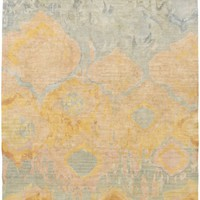 Watercolor Area Rug Yellow, Green