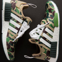 """Adidas"" NMD Boost Casual Sports Shoes Beige"