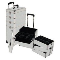 Silver Professional Rolling Makeup Case