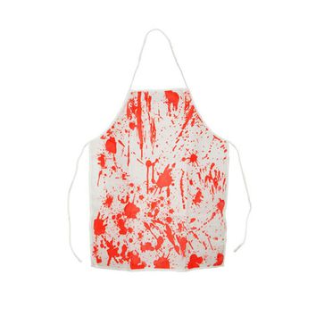 Bloody Apron Halloween Apron Horror Butchers Chef Kitchen Cook Apron for Adult Costume Party