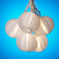 Happy Sales HSML-15, White Paper Lantern String Party Lights