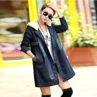 Hooded Denim Coat YRB0589