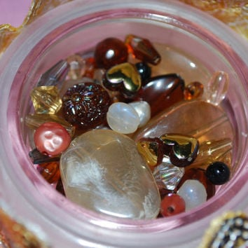 BROWN acrylic beads, Earth tone jewelry supplies, Various beads, Lot of beads