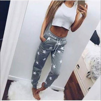 New Loose Pants Women Star Printed Fashion Tee Casual Pants High Quality Long Hot Sale