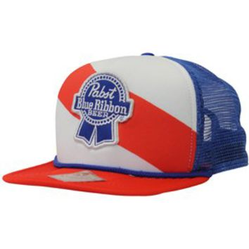 Pabst Blue Ribbon PBR Beer Mesh Red, White, and Blue Patch Hat