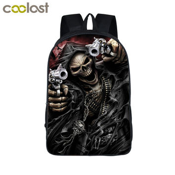Cool Skull Reaper Backpack For Teenage Boys Children School Bags Rock Backpacks Women Men Hip Hop Backpack kids Book Bag