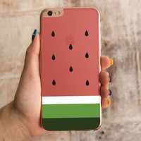 360° Full Protection Watermelon Clear iPhone Cover Cute Transparent Cases -0321