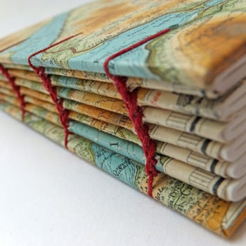 Map Journal, Reclaimed Map Notebook, Landscape Journal, Reclaimed Journal, Travel Journal, Scottish Notebook, Ben Nevis, Sketchbook