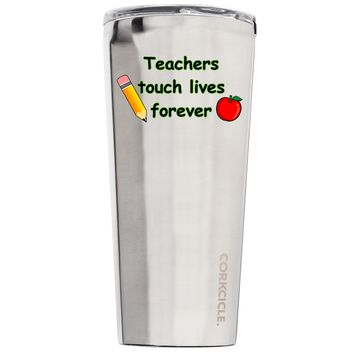 Corkcicle Teachers Touch Lives Forever 24 oz Tumbler Cup