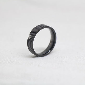 Free Engraving,black Ring, Frosted Ring,promise ring,couple Rings, Lovers rings
