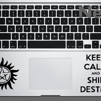 Supernatural inspired combo decal sized for all macbook trackpads