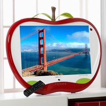 "Hannspree 28"" Apple-Shaped 1080p Full HD LCD TV with HDMI Cable at HSN.com"