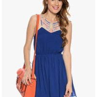 Blue Care Free Sleeveless Dress | $11.50 | Cheap Trendy Casual Dresses Chic Discount Fashion for Wo