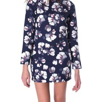 Full Of Happiness Shift Dress - Navy Print