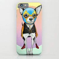Chihuahua as Luchador iphone case, smartphone