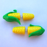 THE ORIGINAL Corn on the Cob Fake Gauged Earring
