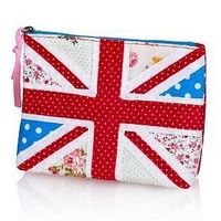 Pure Cotton Union Jack Zip Cosmetic Purse - Marks & Spencer