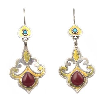 Turkmen Scroll Earrings
