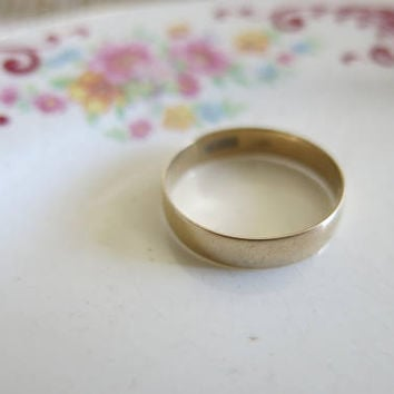14K gold wedding band mens wedding ring 2.0g estate vintage antique 14K solid yellow gold wedding jewelry size 9