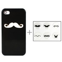 iPhone 4/4s Mustache Back Cover (Black)
