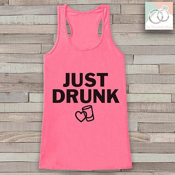 Bridesmaid Tank Top - Just Drunk Tank Top - Bridal Party Wedding Shirt - Pink Tank Top - Bachelorette Party - Bridal Party Outfit