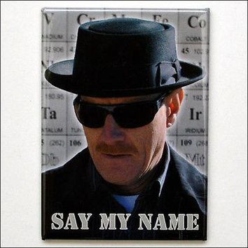 Breaking Bad Heisenberg Hat Shades Say My Name Heavy-Duty Fridge Magnet LICENSED