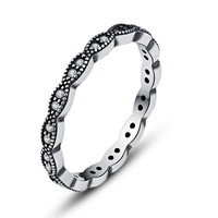 Authentic 925 Sterling Silver Ring With European Rings Crystal CZ Wedding Ring For Women Compatible With Pandora Jewelry R13