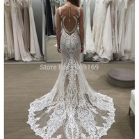 FASHION Sexy White Mermaid Prom Dresses 2017 Tank Appliques Lace Sweep Train Ceremonial Dress Plus Size Special Occasion
