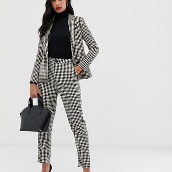 Fashion Union houndstooth slim pants two-piece | ASOS