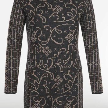 Icelandic Design Wool Tunic Dress - Tiger Lily