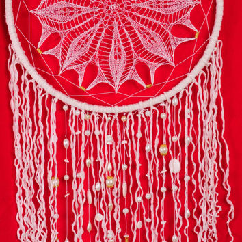 Dreamcatcher white Dream Catcher roses Dreamcatcher New Dream сatcher gift idea dreamcatchers boho dreamcatcher wall handmade baby mobile