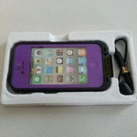 Purple Color Waterproof Shockproof Pc Case Life Dirt Proof Cover Fits Apple Iphone 4 4s
