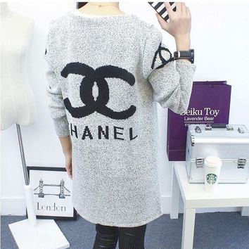 DCCKB62 Chanel Fashion Casual Hooded Sweater Knit Cardigan Jacket Coat G