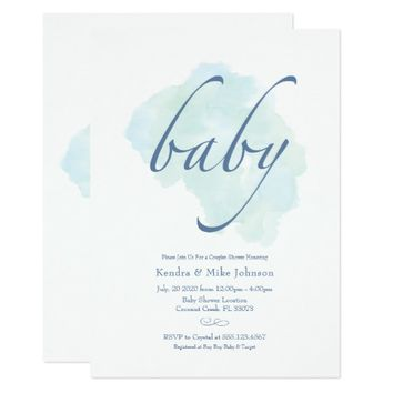Sweet Simplicity Baby Shower Invitation