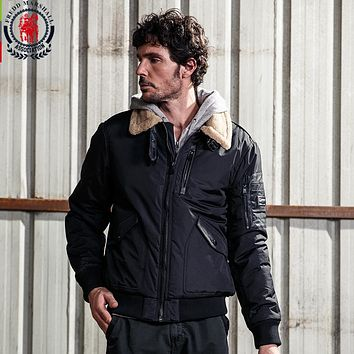 Men's Patch Designs Casual Jacket Men Fur Collar Thick Parkas Male Simple Outerwear Man Jackets And Coats