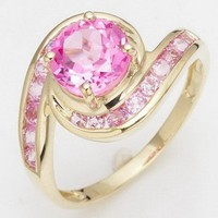 Pink Sapphire 10k Gold Filled Ring