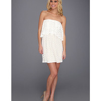 Tbags Los Angeles Lace Layered Ruffle Tube Mini Dress Ivory - Zappos.com Free Shipping BOTH Ways