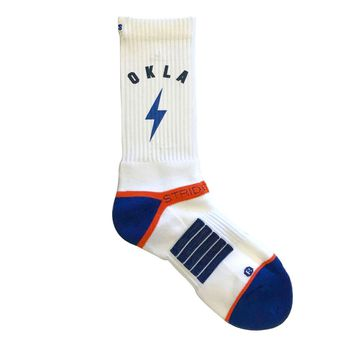 Strideline® 2.0 Oklahoma City Thunder Bolt City View Crew Socks