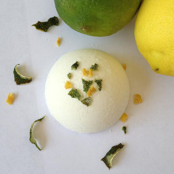 Lemon Lime Twist Bath Bomb/Bath Fizzies/Citrus/Organic/All Natural