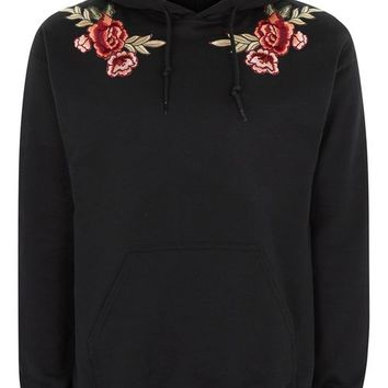 Black Rose Hoodie - Hoodies & Sweatshirts - Clothing