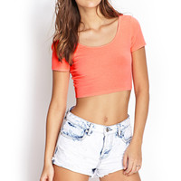 FOREVER 21 Scoop Neck Crop Top