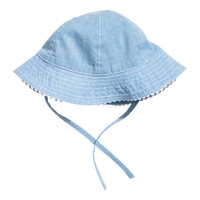 Sun Hat with Ties - from H&M