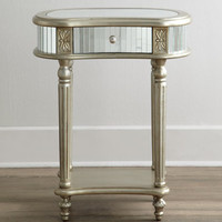 Melrose Mirrored Side Table