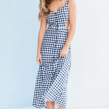 Glamorous Cutout Gingham Midi Dress - Urban Outfitters