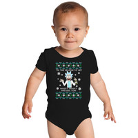 Rick And Morty Christmas Tee Baby Onesuits