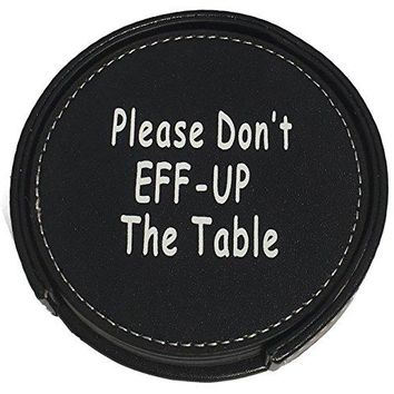 Drink Coasters Set Housewarming Gifts  Funny Gag Gift For Table Bar And Furniture Protection  Leather Coaster For Beer Wine And Glass Bottles